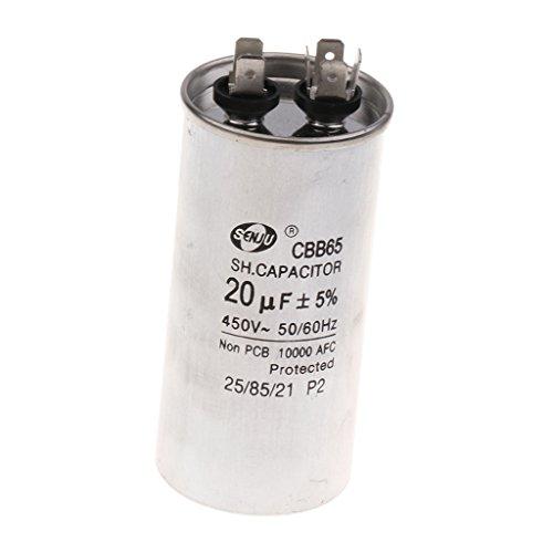 Condensador de Funcionamiento de Motor Condensador CBB65 450V 20uF de Funcionamiento de Motor