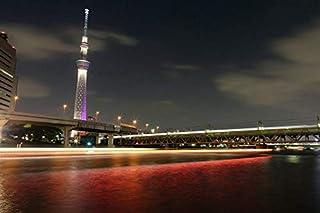 東京スカイツリー - 世界 - #23214 - キャンバス印刷アートポスター 写真 部屋インテリア絵画 ポスター 50cmx33cm...