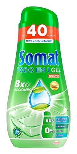 Somat Todo En 1 Gel Lavavajillas Verde - 40 lavados