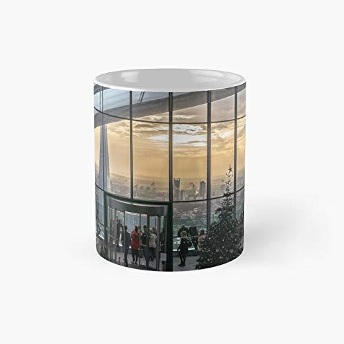 Sky Gardens Walkie Talkie Building London Classic Mug Best Gift Funny Coffee Mugs 11 Oz