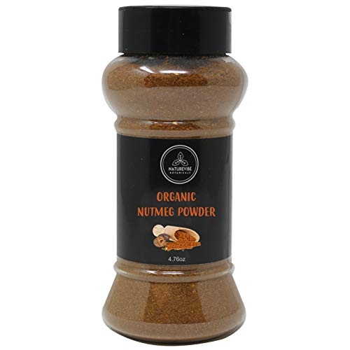 Naturevibe Botanicals Organic Nutmeg Powder, 4.76oz | Non-GMO and Gluten Free | Indian Spice | Adds Aroma and Flavor