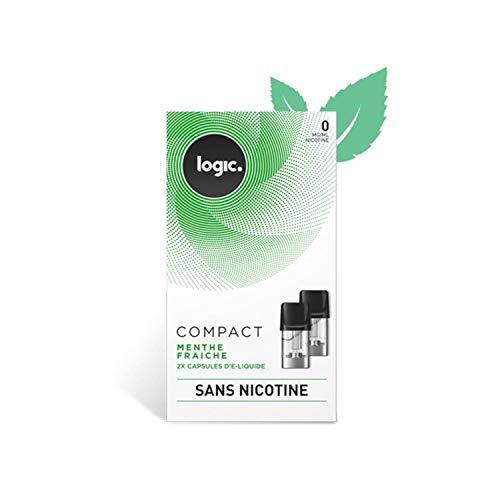 E-Liquide en Capsule Logic Compact – Menthe Fraiche 0 mg/ml Sans nicotine ni tabac