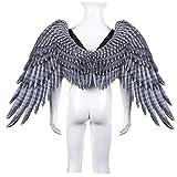 Berrywho Black Wings Angel Disfraz Party Cosplay Prop Seculy Vestido Disfraz Simple Angel Cosplay Alas para Niños Niños Niños
