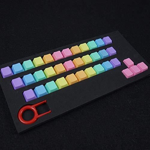 YEZIN DIY-Keycaps für Tastaturen 37 Schlüssel/Set-Schlüssel-Abdeckung Mechanische Tastatur Bunte Höhe ABS Helle Farbe stufenweise Farbe ändern Double Dip-Dye Key Caps (Colore : Verde)
