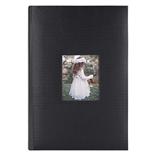 Golden State Art, Photo Album 4x6 inch 300 Picture Pockets with Large Capacity Photo Book, 3 Per Page Capacity Black Embossed Cover