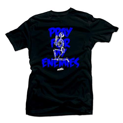 SNELOS Shirt to Match Jordan (Jordan 12 Game Royal. Enemies (Black), L)