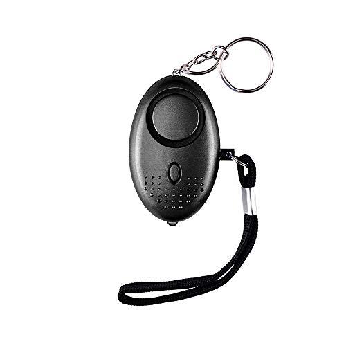 Alarme Personnelle d'urgence avec LED,Alarme de sécurité Porte-clés 130 DB Alarme Poche Panique Anti-agression d'auto-défense pour Les Femmes, Les Enfants, Les Personnes âgées(Noir)