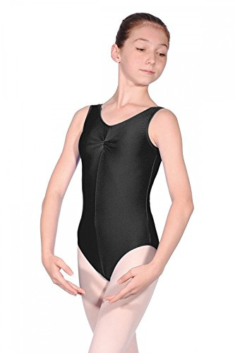 Roch Valley Sheree Nylon/Lycra Leotard Black Age 7-8 122-128cm (1b)