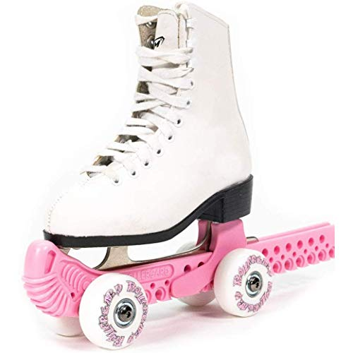 Rollergard Slip-On ROC-N-Roller Figure Skate Rolling Guard with a Floating Blade System, Pink (2 Pack)