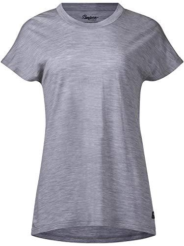 Bergans Oslo Wool - T-Shirt Manches Courtes Femme - Gris Modèle S 2019 Tshirt Manches Courtes