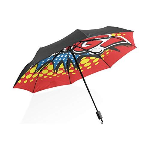 Montoj Amazing Bang! Comic Word Sonne & Regen Regenschirm UV-Schutz