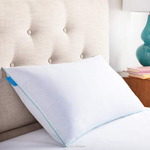 LinenSpa Shredded Memory Foam Pillow with Gel Memory Foam, King