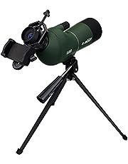 SVBONY SV28 フィールドスコープ バードウォッチング 単眼鏡 スマホ 単眼望遠鏡15倍-45倍 50mm/ 20倍-60倍 60mm/ 25倍-75倍-70 mm 防水 三脚付き(20倍-60倍 80mm)