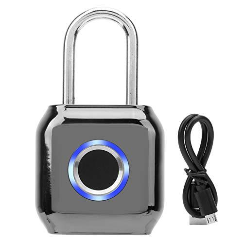 Mini candado sin llave a prueba de robos IP66 a prueba de agua cerradura de cajón cerradura de huella dactilar de zinc llave de huella dactilar inteligente