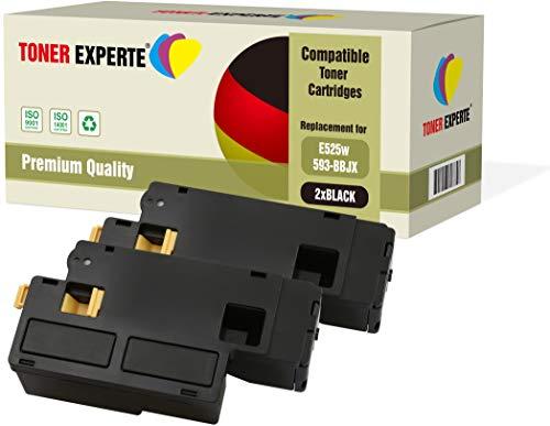 2er Pack TONER EXPERTE® Schwarz Premium Toner kompatibel zu 593-BBLN für Dell E525w