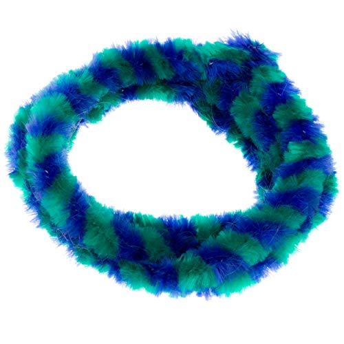Paar Nabenputzringe - grün/ blau - (vorne & hinten) für Nabe Ø168 mm, 560 mm lang