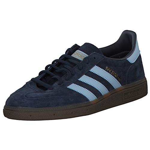 adidas Originals Mens Handball Spezial Sneaker, Collegiate Navy/Clear Sky/Gum, 44 2/3 EU