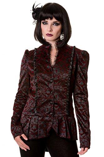 Banned Bloody Jacke Velvet Spitze Mantel Shirt Top Gothic