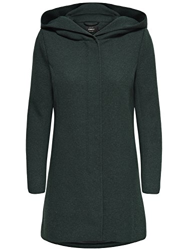 ONLY Damen Mantel Jacke onlSEDONA Light Coat Parka Übergang Herbst (M, grün (Green Gables))