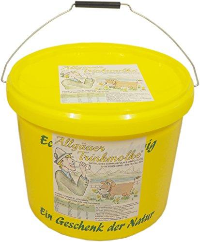 Puntzelhof Allgäuer Trinkmolke – 7.500 g Süssmolke Molkepulver, ohne Zusätze, Deutsches Naturprodukt aus bester heimischer Milch im praktischen Bienen-Honig Vorrats-Eimer