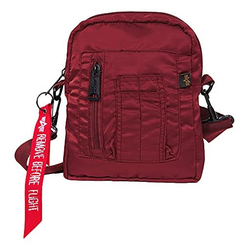 Alpha Industries Crew Carry Bag - Bolso, color burdeos