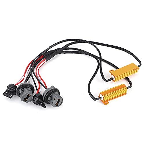 WAQU Decodificador LED 2 uds 7443 Luz de Freno LED Cable decodificador de Resistencia única 7440 Indicador de señal de Giro Sin Error Resistor de eliminación de fallas