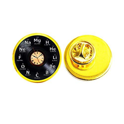 Broche de reloj con broche de reloj, fantástica joyería de reloj, regalo de cumpleaños, broche de cristal para reloj de cúpula #155