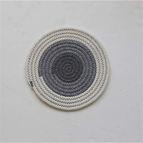 Manteles individuales,Manteles individuales de algodón tejidos a mano de estilo japonés, almohadillas aislantes gruesas de algodón y lino, posavasos, cuencos y ollas: 6 piezas de degradado