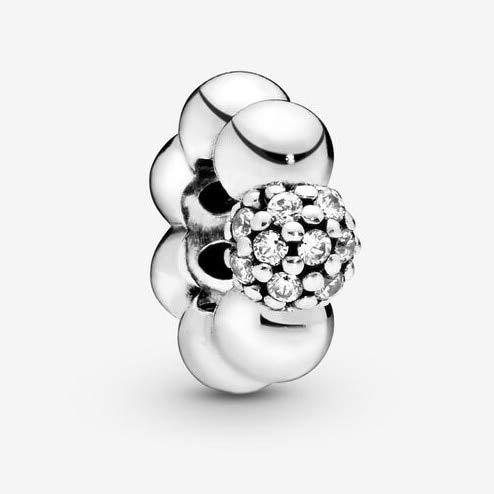 ZSCZQ Forma de corazón 925 Flor de Plata esterlina Mamá Mamá de mi corazón Encantos DIY Cuentas Finas Fit Original Charm Bracelet Jewelry B048Y