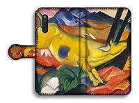 手帳型 スマホケース【世界の名画】 マルク ☆抽象画☆ art 名画 絵画 アート 美術 Google Pixel Xperia Galaxy AQUOS HUAWEI OPPO (Galaxy A7, 黄色い牛)