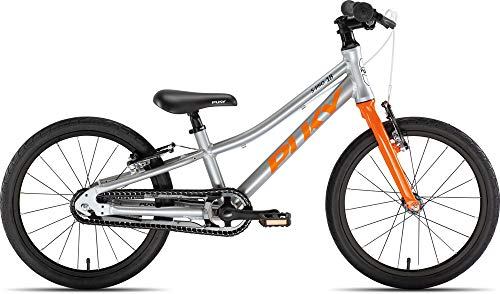 Puky LS Pro 18-1 - Bicicletta per bambini, in alluminio, colore: Argento/Arancione