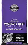 WORLDS BEST CAT LITTER LAVENDER SCENTED 6.35KG - ECO FRIENDLY - FLUSH-ABLE (1X)