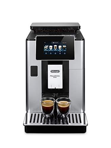 DeLonghi-PrimaDonna-Soul-ECAM-61255SB-Kaffeevollautomat-mit-Milchsystem-Bean-Adapt-Technologie-Cappuccino-und-Espresso-auf-Knopfdruck-43-Zoll-TFT-Farbdisplay-und-App-Steuerung-silber