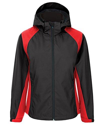 Best Price Fila Golf Men's Auckland Lightweight Jacket, Black/Viva Red, 4X-Large