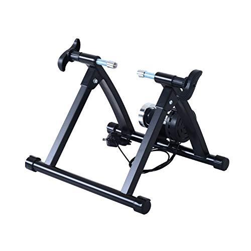 HOMCOM Rollentrainer Fahrradtrainer Fahrrad Heimtrainer Magnetbremse klappbar verstellbar 26