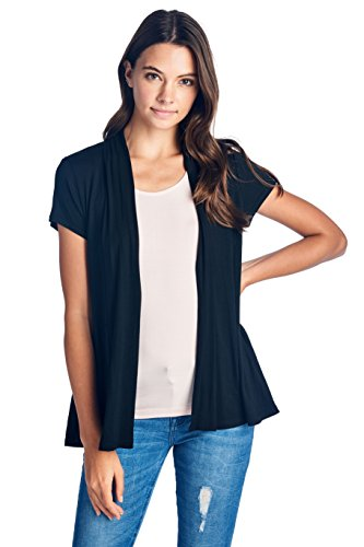 GO GREEN WITH NATURAL BAMBOO FABRIC AND SAVE THE WORLD PERFECT FOR SENSITIVE SKIN / FEEL THE EXTRA QUALITY & SOFTNESS Solid, Basic, Plain, Casual, Classic, For Home & Office, Everyday Cardigan for all season long Super Soft & Stretchy, Lightweight, N...