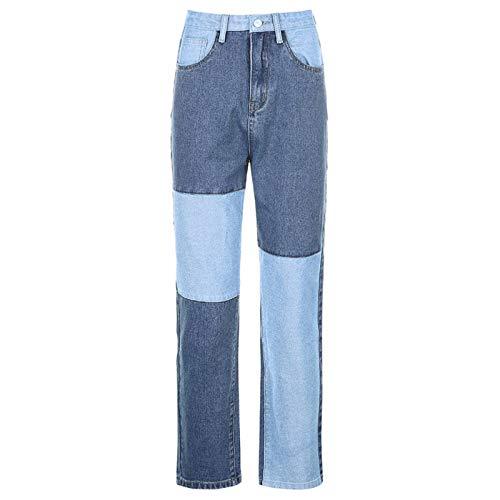 Pantalones vaqueros a juego de color de los años 90 para mujeres europeas y americanas Otoño Y2k Moda Pantalones de pierna recta de cintura alta Pantalones casuales de todo fósforo para mujer