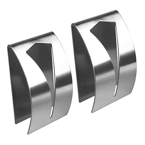 Colgador Toalla Baño,2 PCS Soporte Toalla Té Autoadhesiva ganchos adhesivos para pared de acero inoxidable Bell Toallero Triple para baño cocina y puerta