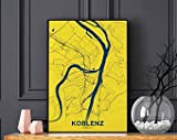 MG global Koblenz Germany Map Poster Color Hometown City