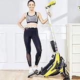Ruderzugmaschine mit Rudergerät Mute Bauchbrust Arm Fitnesstraining Körper Glider Rudern Home Gym Fitnessausrüstung (Farbe : Schwarz, Größe : Einheitsgröße)