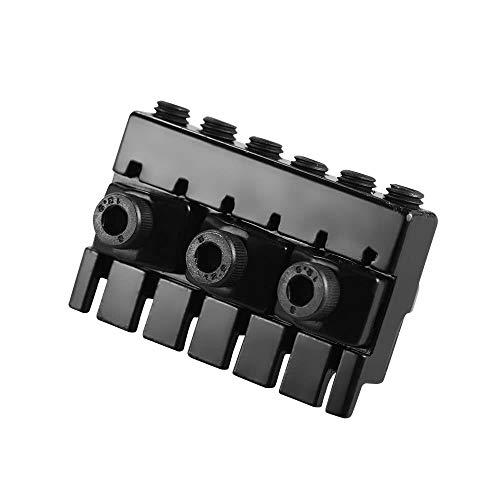Doolland 6-saitiger Headless E-Gitarrensaiten-Kontermuttersatz mit 2 Schraubenschlüsseln und 2 Schrauben Schwarz
