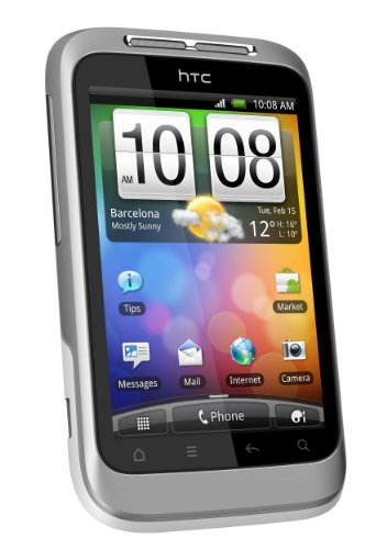 HTC Wildfire S - Smartphone (8.13 cm (3.2'), 320 x 480 Pixeles, 0.6 GHz, 512 MB, EDGE, GPRS, GSM, 3G) Plata, Color blanco