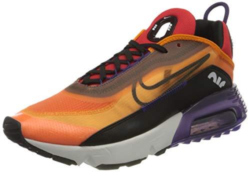 Nike Air Max 2090, Scarpe da Corsa Uomo, Magma Orange, Arancione/Eggplant/Habanero Red/Nero, 45 EU
