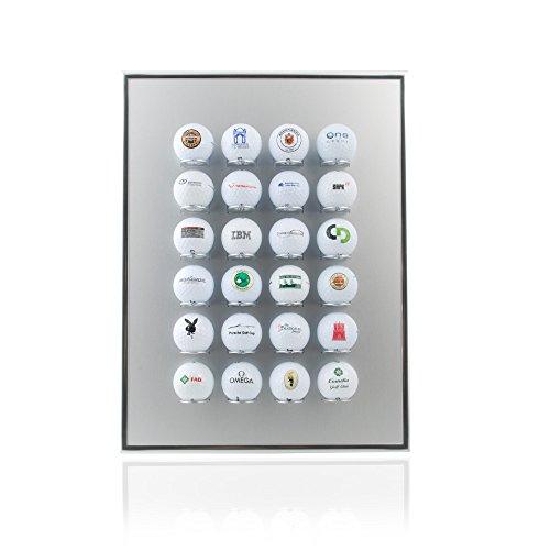 Knix Premium Golfball Setzkasten aus Aluminium für 24 Golfbälle - Schaukasten, Golf-Regal Vitrine Display passionierte Golfer