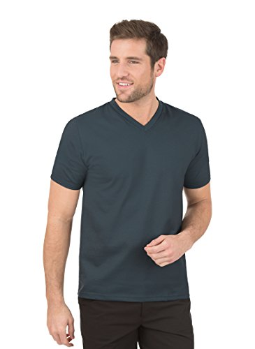 Trigema Herren 637203 T-Shirt, Grau (anthrazit 018), X-Large