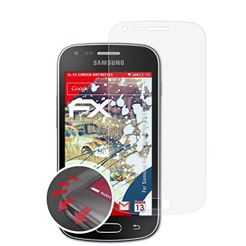 atFolix Schutzfolie kompatibel mit Samsung Galaxy Trend Plus GT-S7580 Folie, entspiegelnde und Flexible FX Displayschutzfolie (3X)
