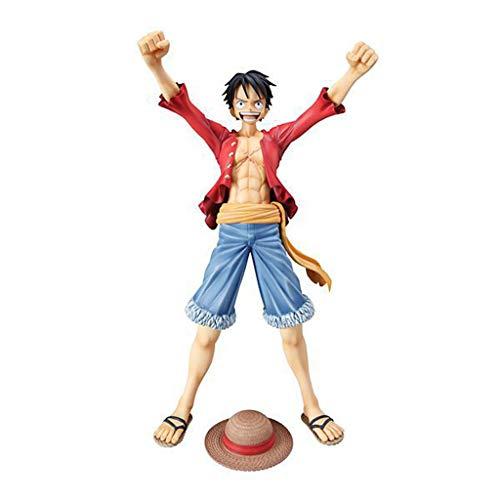LULUDP Dragon Ball One Piece Portrait Pop Holding Variante De Boxe Lufei Main Modèle Poupée À La Main Souvenir Cadeau Jouet Collection Modèle Artisanat Place 20 cm