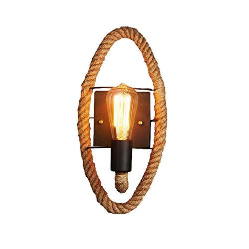 Wandlamp vintage wind restaurant hennep touw wandlamp smeedijzer balkon hal woonkamer ladder wandlamp