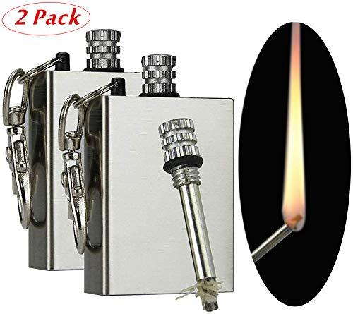 Harddo Pocket Fire Starter, permanente lucifers roestvrij staal, permanent vuurmetaal, voor camping en outdoor, lichte sleutelhanger