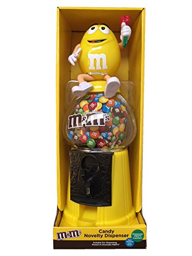 "M & M \'s Dispensador De Chocolate Candy máquina & dinero Banco Grande 12\""–amarillo"